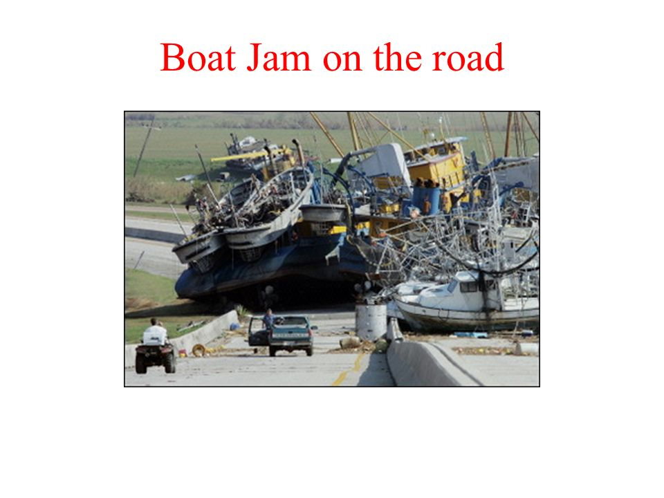 Boat Jam on the road