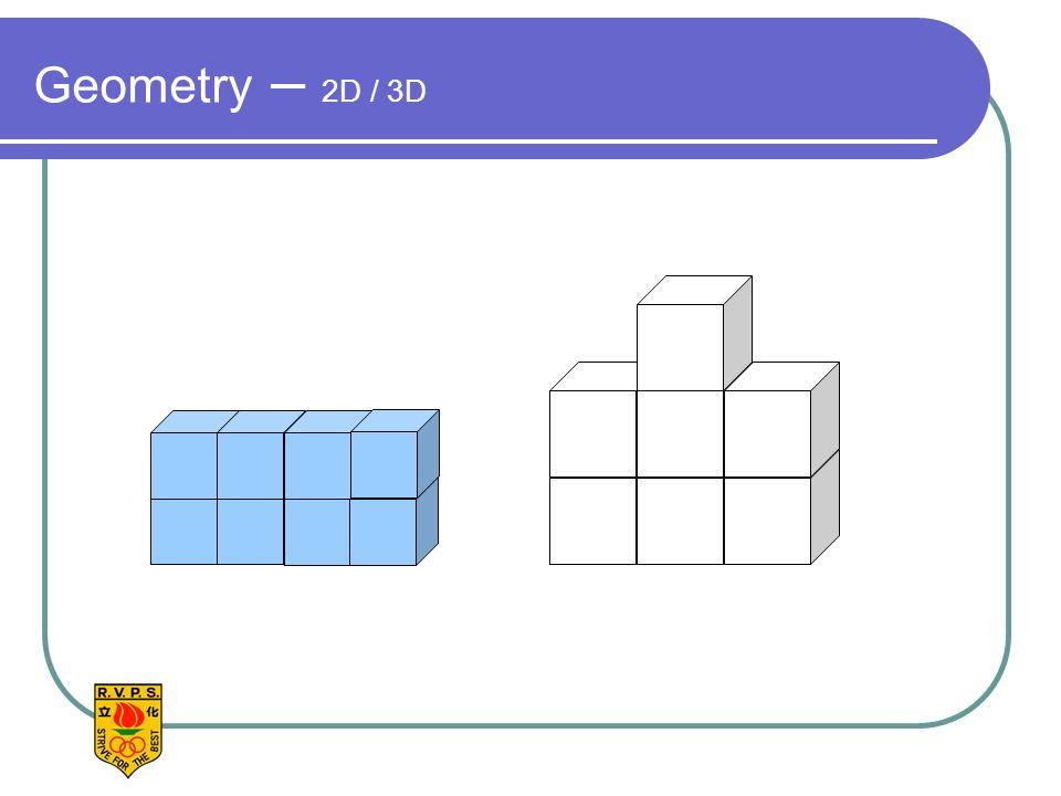 Geometry – 2D / 3D