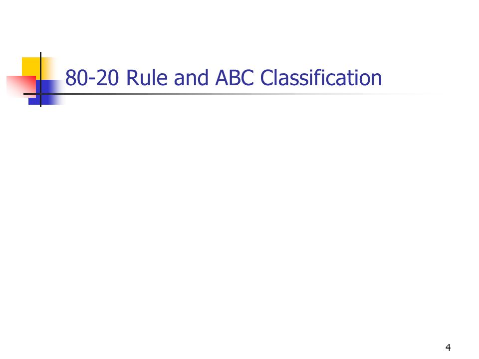 4 80-20 Rule and ABC Classification