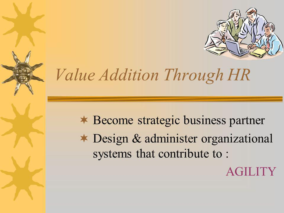 Value Addition Through HR 7.
