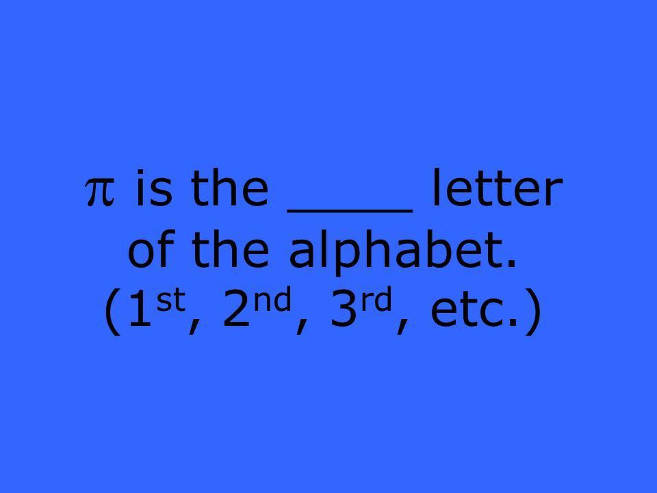 is the ____ letter of the alphabet. (1 st, 2 nd, 3 rd, etc.)