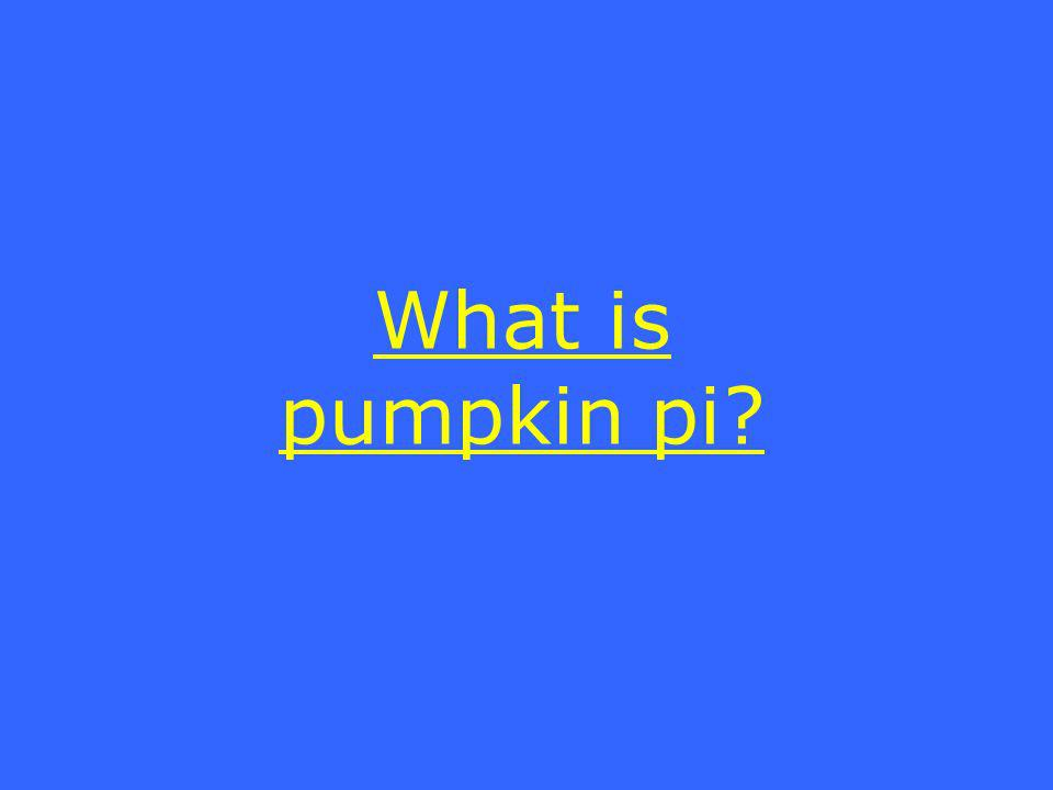 What is pumpkin pi