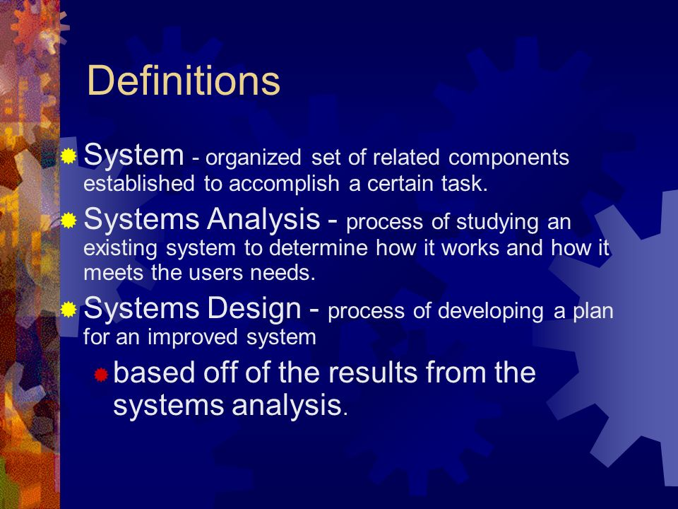 Systems Analysis and Design Presented by Thakur Rai