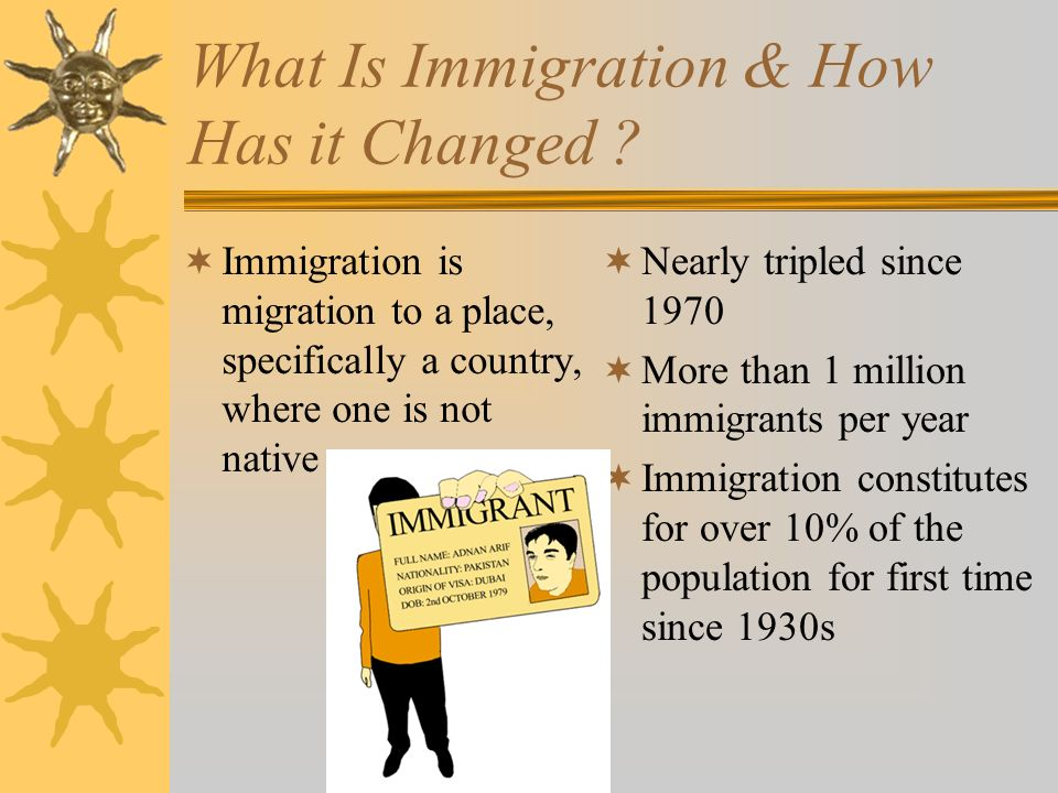 What Is Immigration & How Has it Changed .