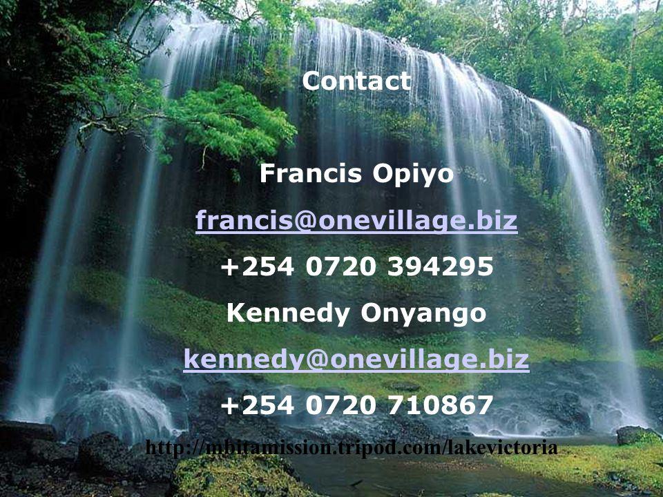 www.worldaidsmarathon.com Contact Francis Opiyo francis@onevillage.biz +254 0720 394295 Kennedy Onyango kennedy@onevillage.biz +254 0720 710867 http:/