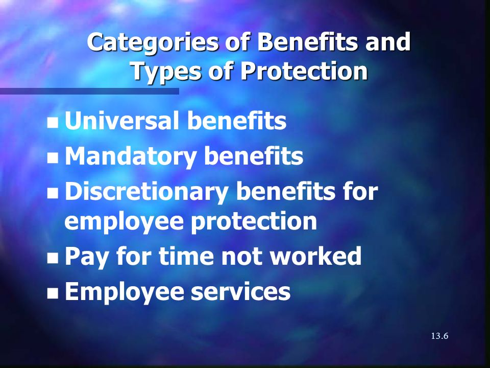 13.7 Universal Benefit Programs n n Old Age Security n n Guaranteed Income Supplement (GIS) to OAS n n Provincial supplements n n Provincial hospital and medical plans