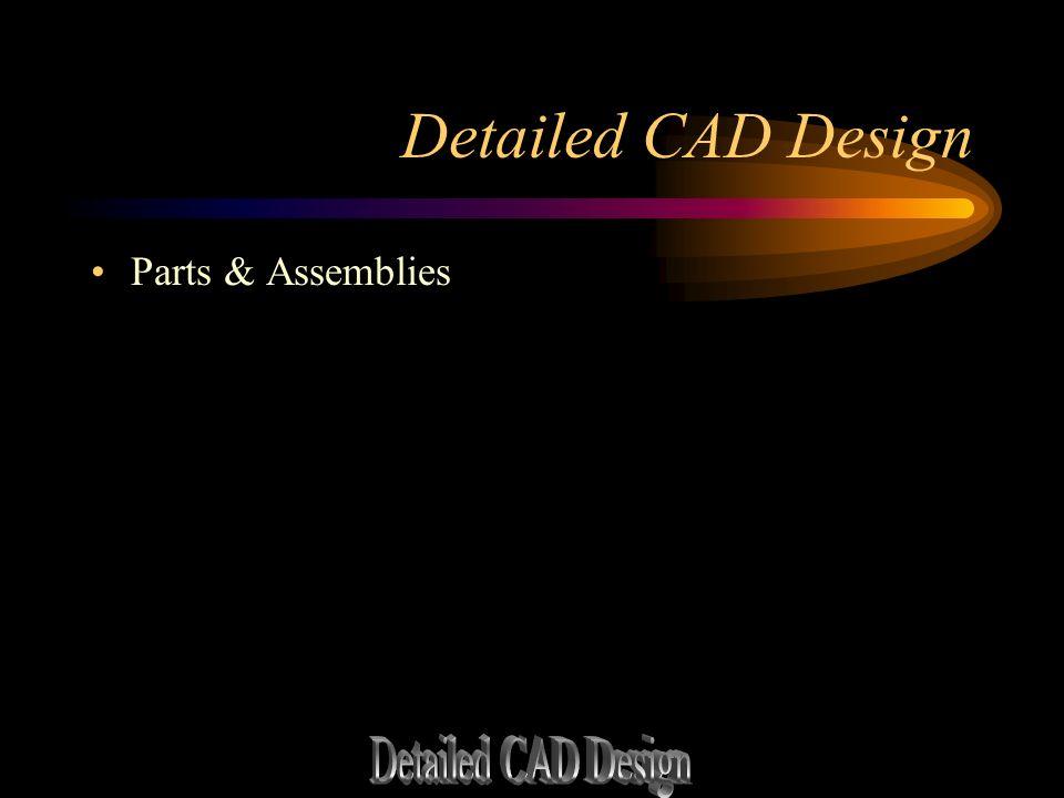 Detailed CAD Design Parts & Assemblies
