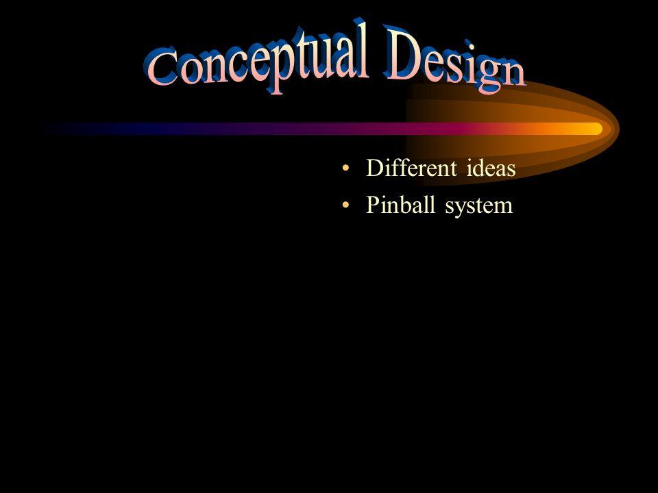 Different ideas Pinball system