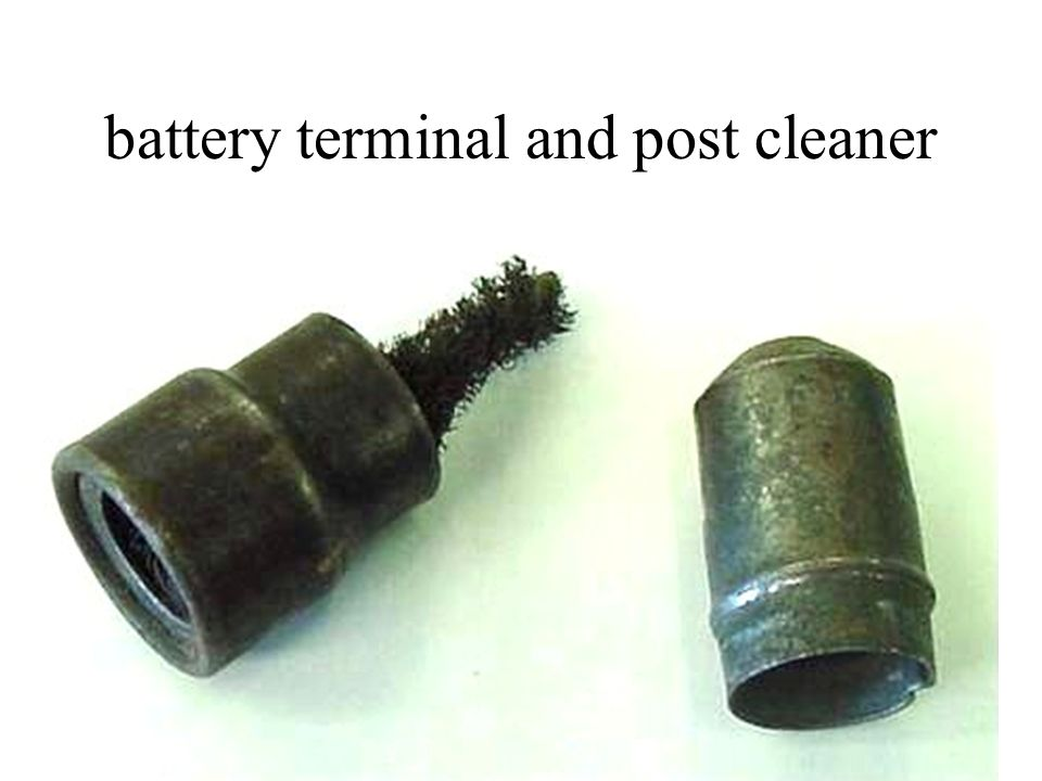 battery terminal and post cleaner