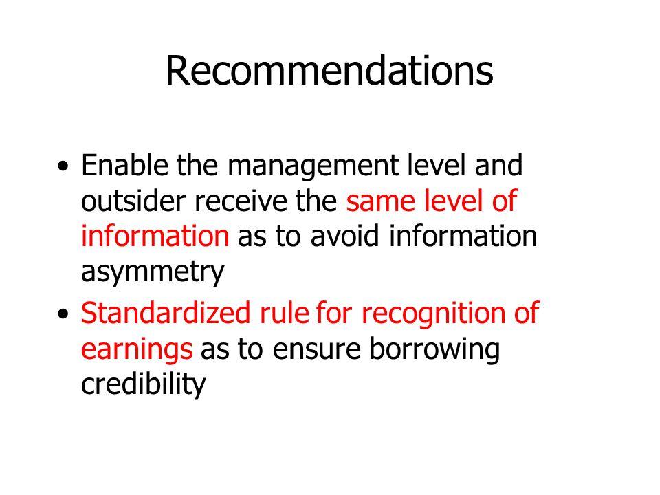 Part IV: Recommendations