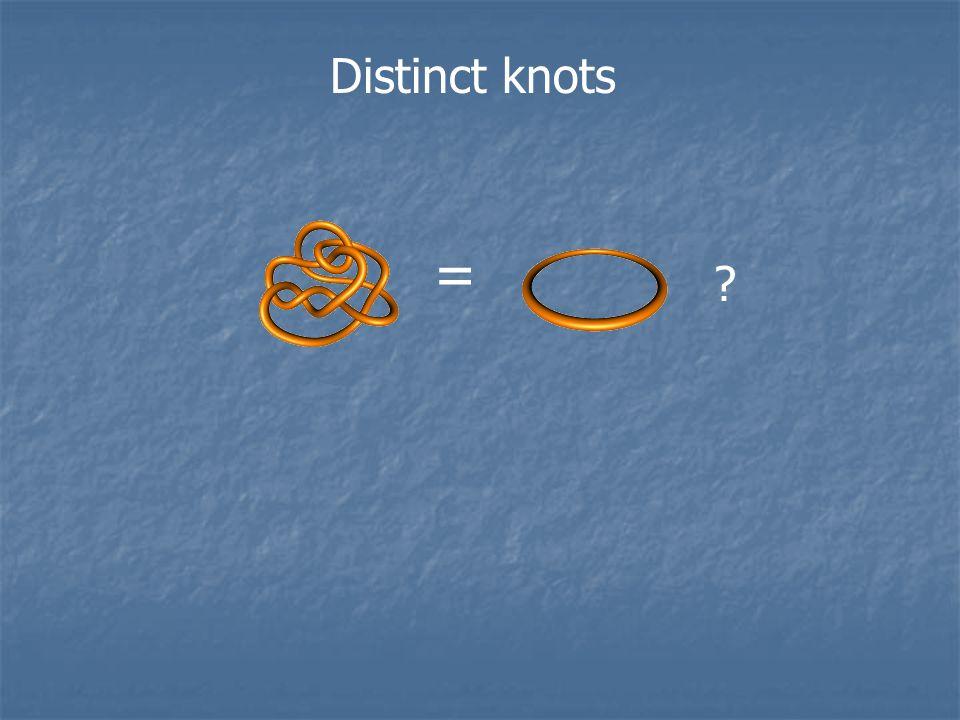 Distinct knots =