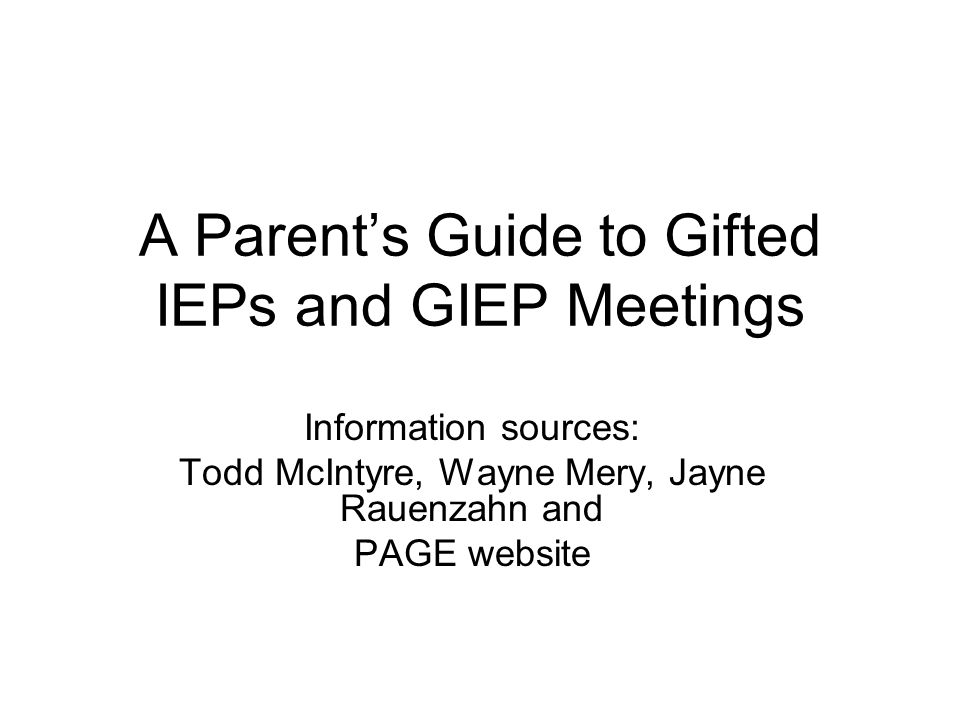 Regular Eduation teachers can read all sections of the GIEP.