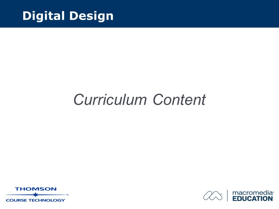 Curriculum Content Digital Design