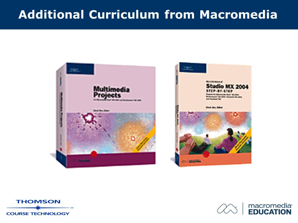 Additional Curriculum from Macromedia
