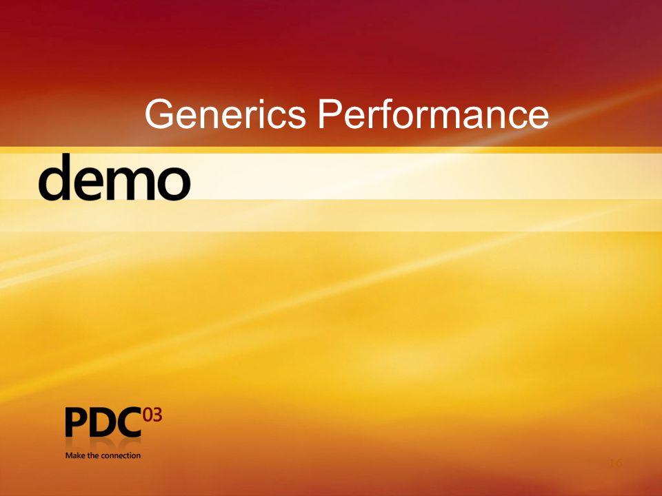 16 Generics Performance