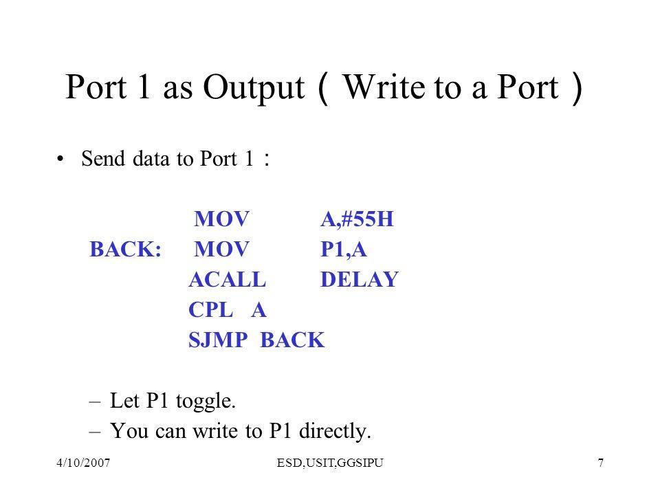 4/10/2007ESD,USIT,GGSIPU8 Reading Input v.s.