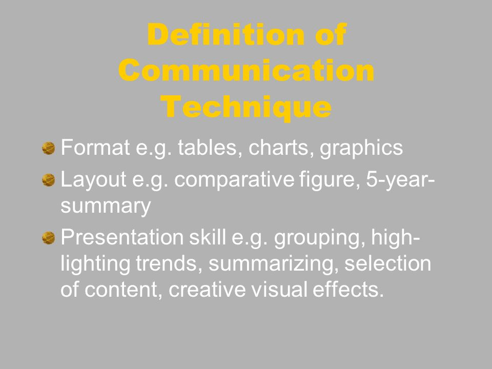 New content component New presentation technique : From narrative to visual a tool to enhance Annual Reports understandability Recommendations for CD-Rom