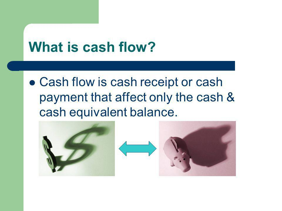 Classification of cash flows Cash flows from operating activities Cash flows from investing activities Cash flows from financing activities