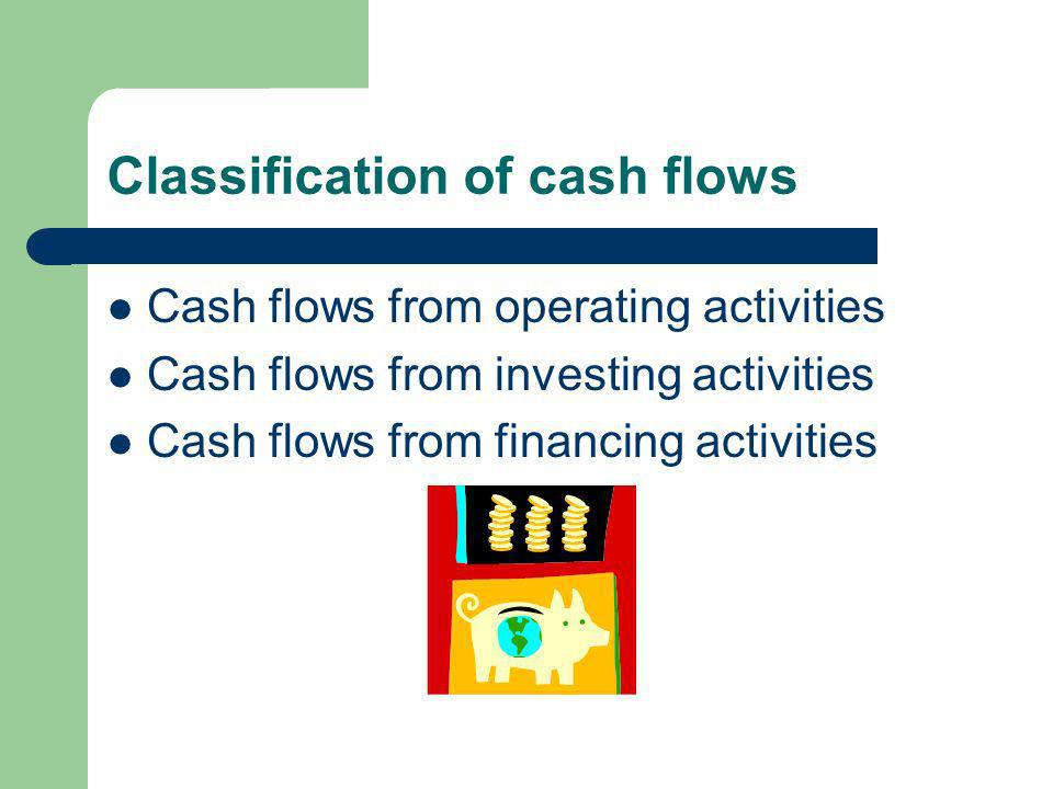 Earning Cash flow In an accrual accounting system, there are often timing differences between cash flows and the recognition of expenses or revenue, e.g.