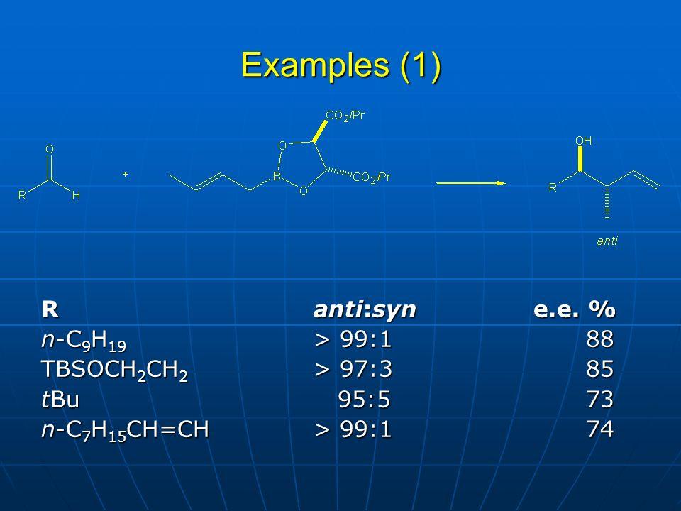 Examples (1) Ranti:syn e.e.