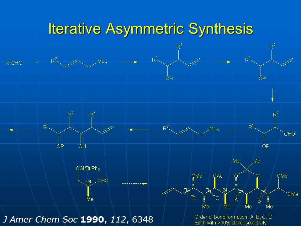 Iterative Asymmetric Synthesis J Amer Chem Soc 1990, 112, 6348