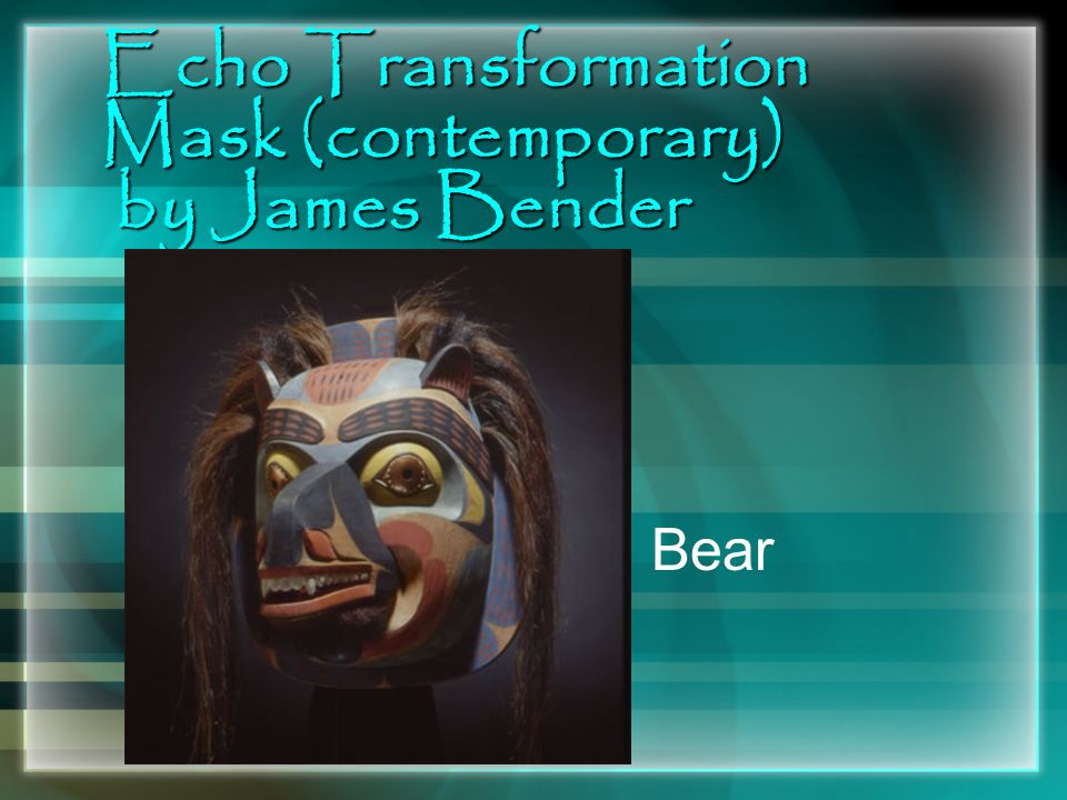 Echo Transformation Mask (contemporary) by James Bender Bear