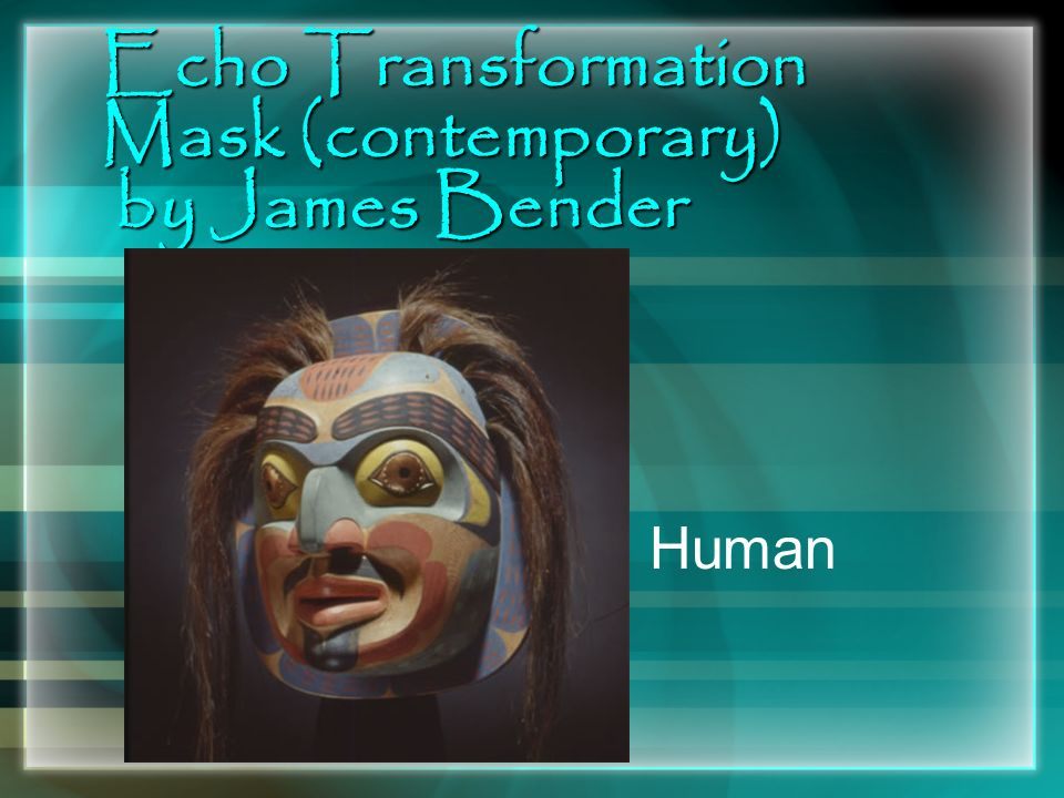 Echo Transformation Mask (contemporary) by James Bender Human