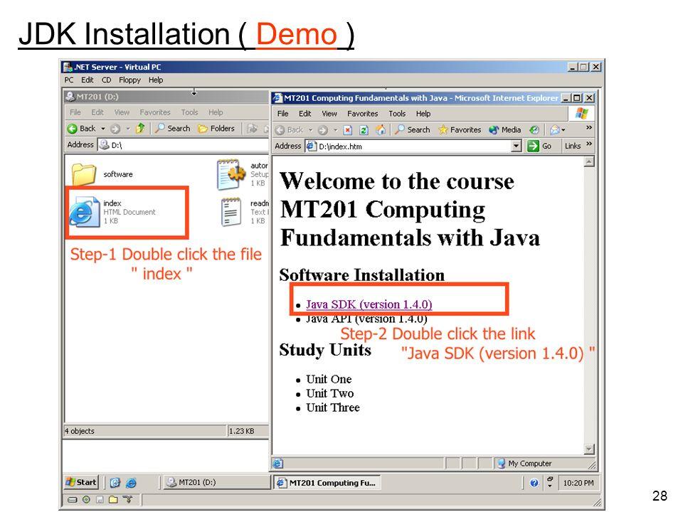 28 JDK Installation ( Demo )