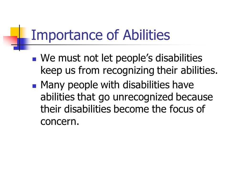 Disability vs.