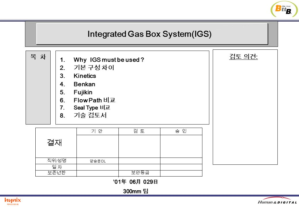 01 06 02901 06 029 300mm 300mm 1.Why IGS must be used ? 2. 3.Kinetics 4.Benkan 5.Fujikin 6.Flow Path 7.Seal Type 8. : / DL Integrated Gas Box System(I