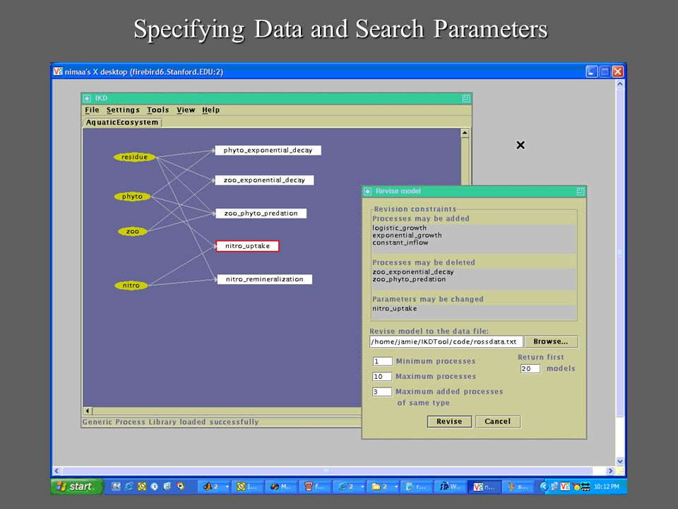 Specifying Data and Search Parameters