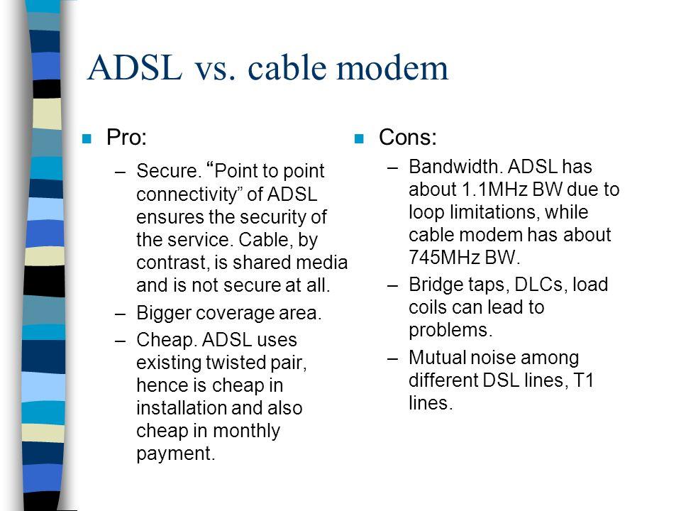 References n ADSL Tutorial: ADSL Application Notes , by ADSL Forum at www.adsl.com.