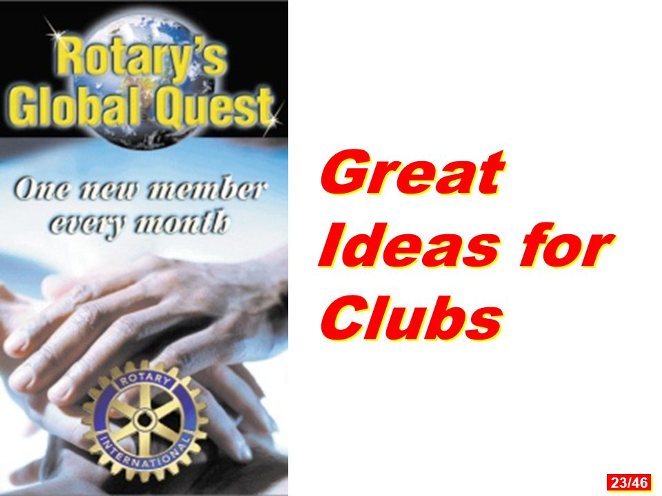 23/46 Great Ideas for Clubs