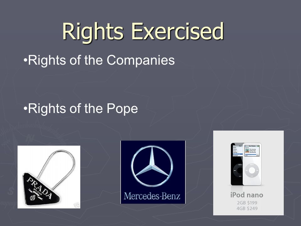 Rights Exercised Rights of the Companies Rights of the Pope