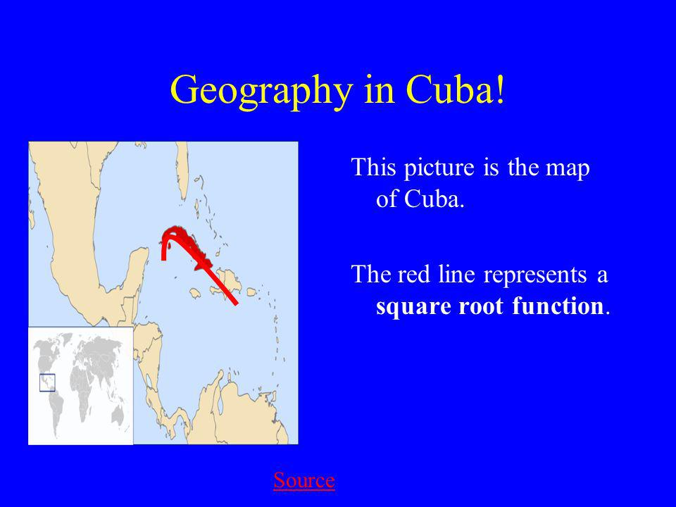 Geography in Cuba. This picture is the map of Cuba.