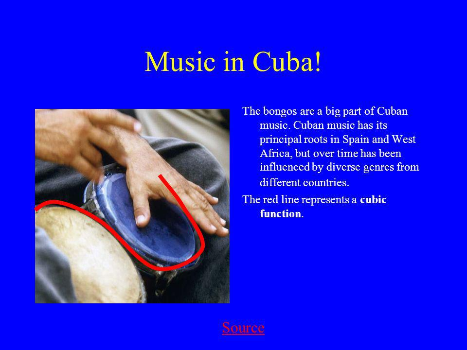 Music in Cuba. The bongos are a big part of Cuban music.