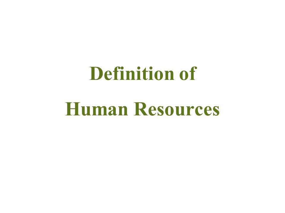 Highlight Definition of Human Resources Definition & Classification of Intangible Assets Reasons of Exclusion Conclusion