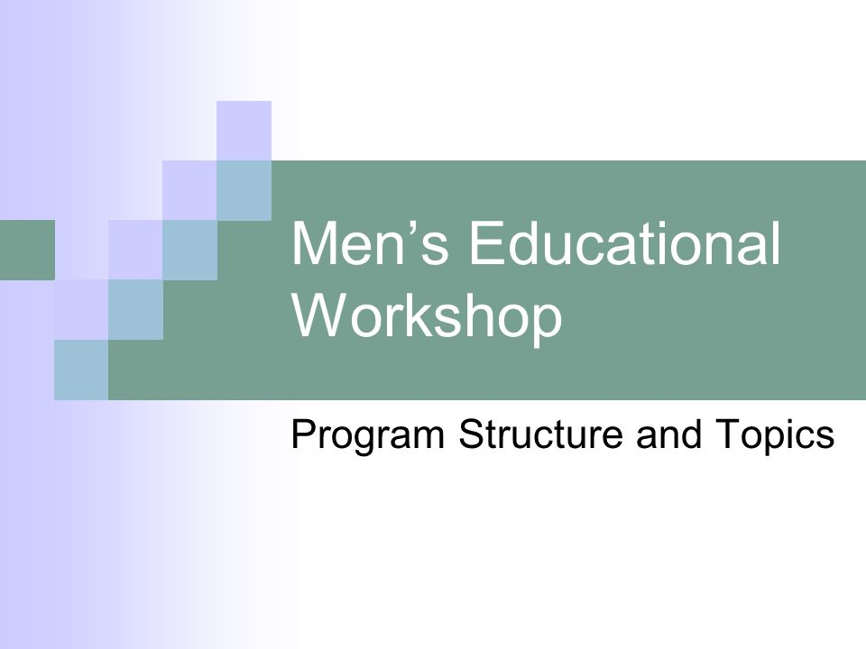 Mens Educational Workshop Program Structure and Topics