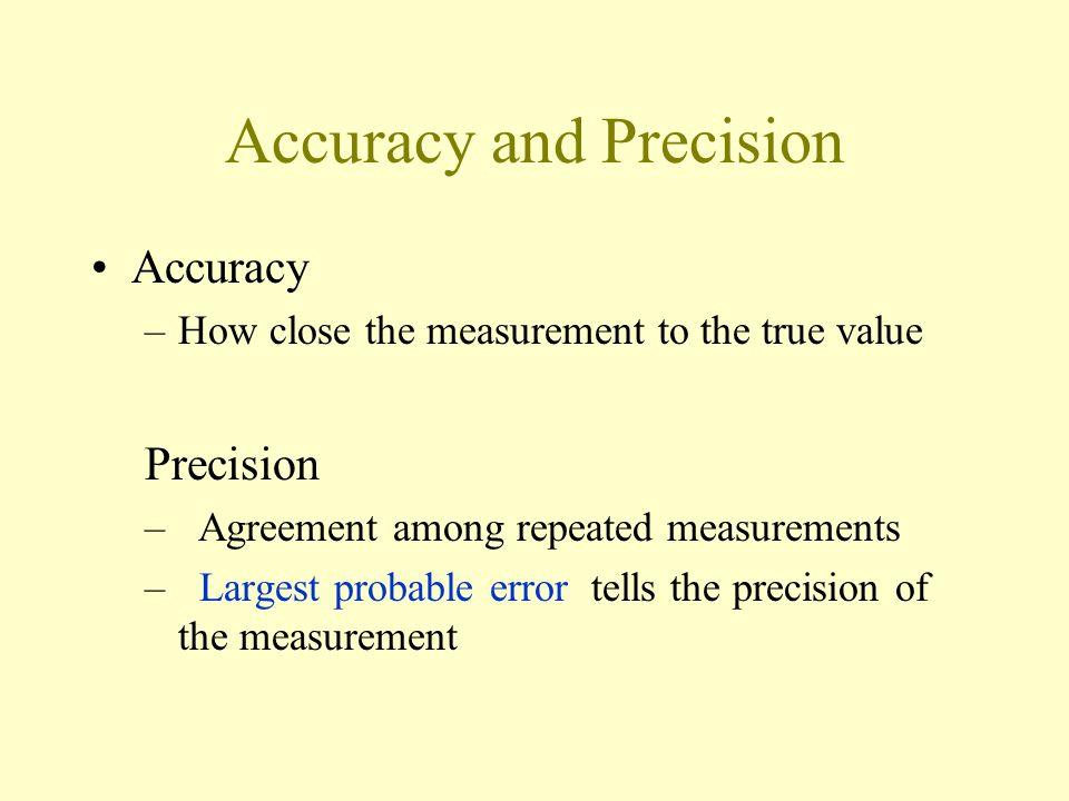 Error Treatment Personal errors –Personal bias Random errors –Poor sensitivity of the apparatus System errors –Measuring instruments –Techniques