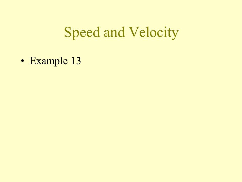 Speed Average speed Instantaneous speed
