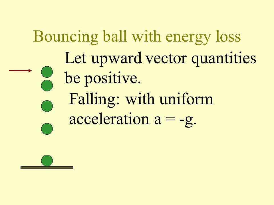 Falling in viscous liquid v t acceleration: slope=g at t=0 uniform speed: slope = 0