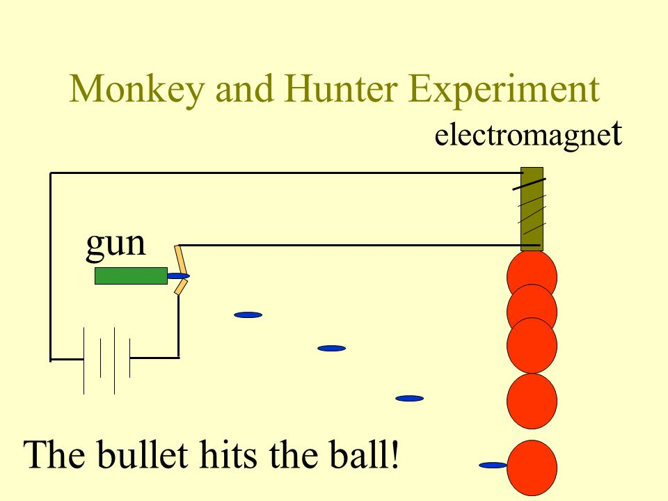 Monkey and Hunter Experiment gun electromagne t