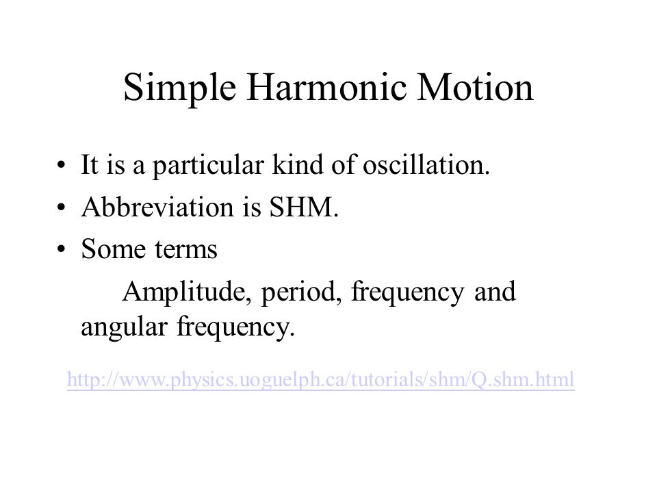The kinematics of SHM A green ball is performing a uniform circular motion with angular velocity.
