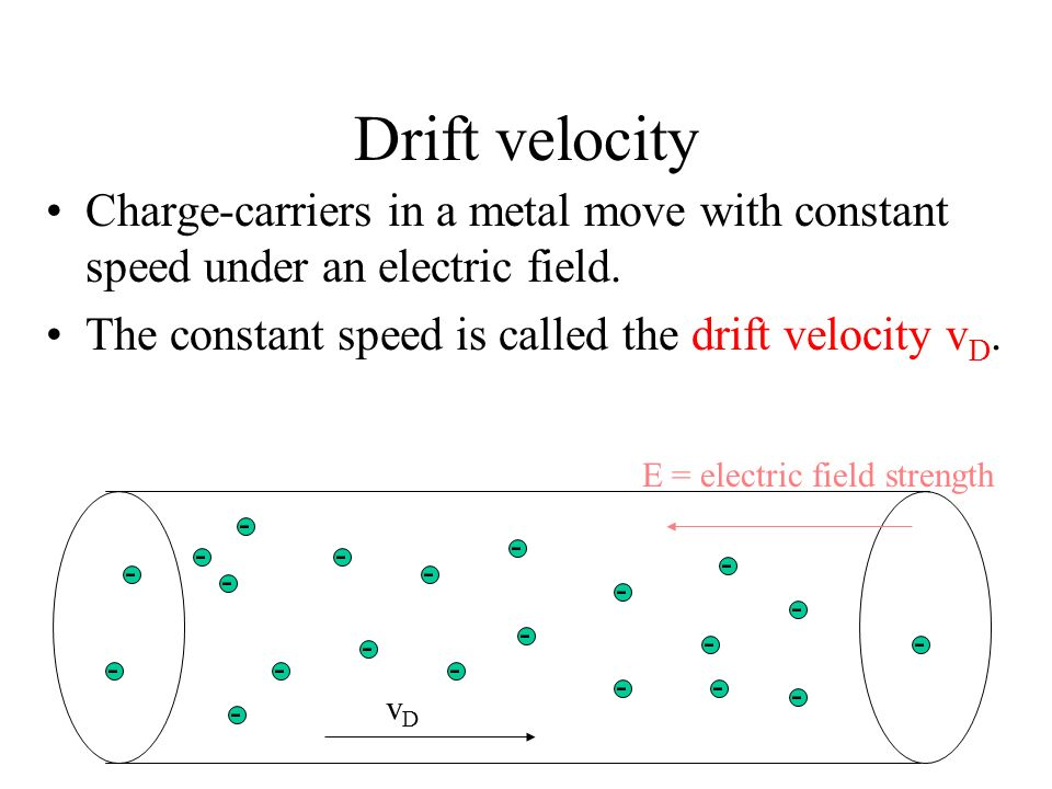 Electric field in a circuit As a result, the charge-carriers are moving at constant speed. ξ S R AB E E
