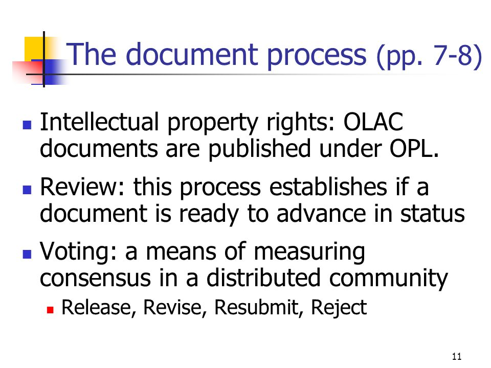 11 The document process (pp.