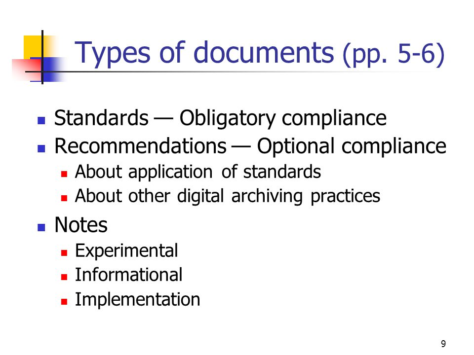 9 Types of documents (pp.