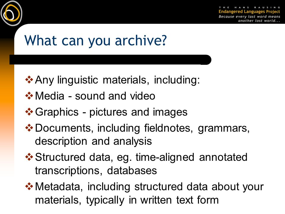 What can you archive.