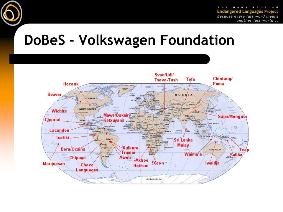 DoBeS - Volkswagen Foundation
