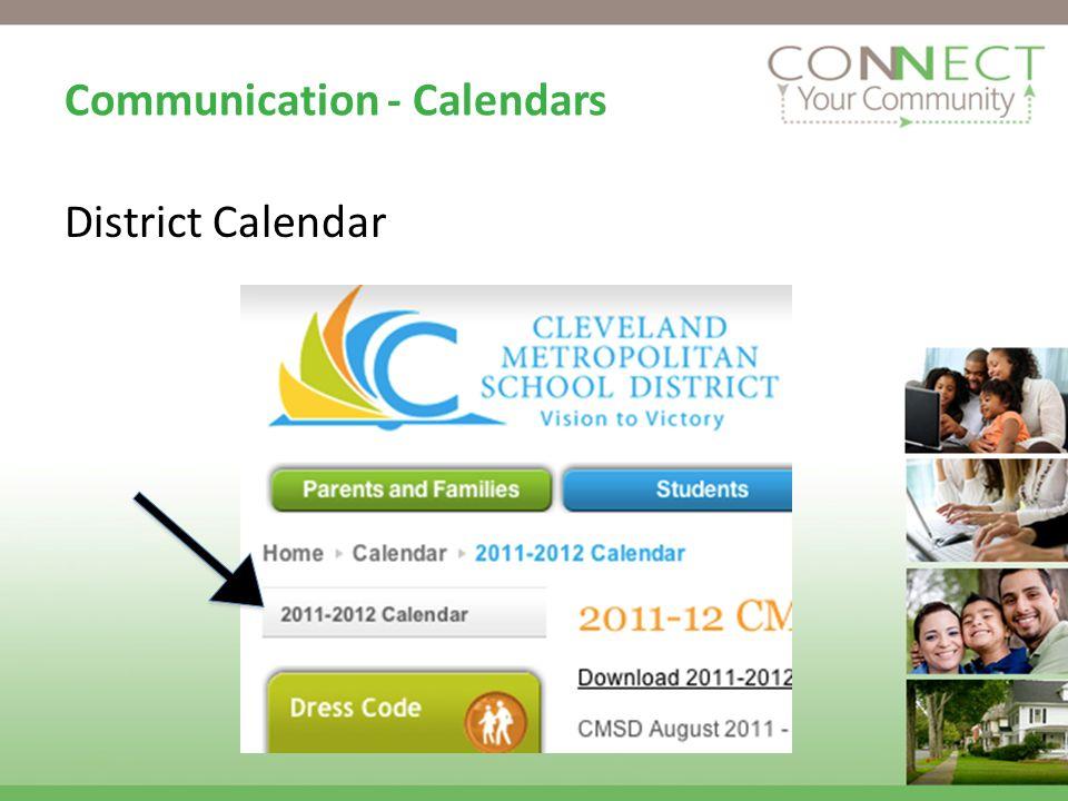 Communication - Calendars District Calendar