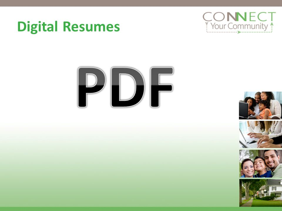 Digital Resumes